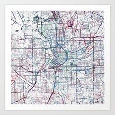 Atlanta map Art Print