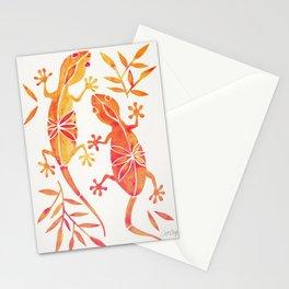 Geckos – Fire Palette Stationery Cards