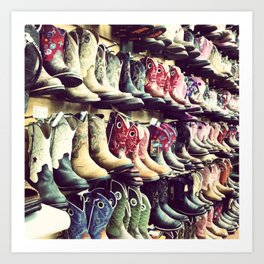 Boot wall Art Print
