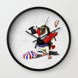 Itching to Perform (Wordless) Wall Clock