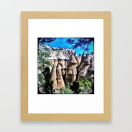 Kasha-Katuwe Tent Rocks National Monument Framed Art Print