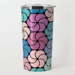 Geometric flowers pattern Travel Mug