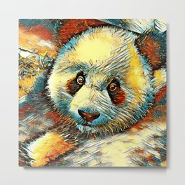 AnimalArt_Panda_20170601_by_JAMColorsSpecial Metal Print