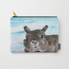 Peanut the Netherland dwarf rabbit, Easter, Nursery Carry-All Pouch
