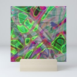 Colorful Abstract Stained Glass G300 Mini Art Print