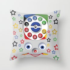Retro Vintage smiley kids Toys Dial Phone iPhone 4 4s 5 5s 5c, ipod, ipad, pillow case and tshirt Throw Pillow