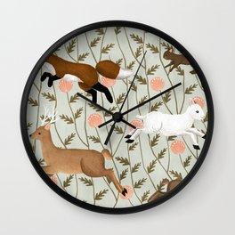 running wild Wall Clock