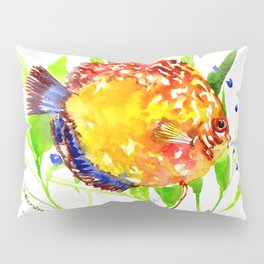 Discus in Aquarium Pillow Sham