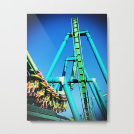 Life is a Roller Coaster Metal Print