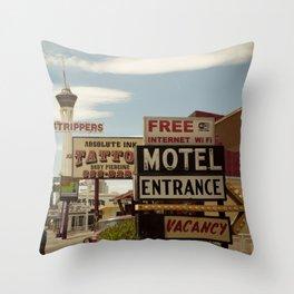 Strip on the Strip - Las Vegas Throw Pillow