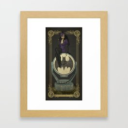 Catwoman in Art Nouveau Framed Art Print