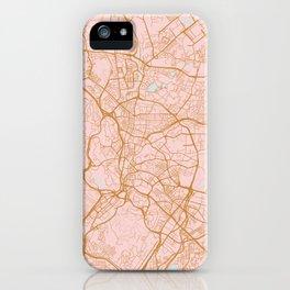 Kuala Lumpur map, Malaysia iPhone Case