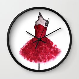 My Prom Dress ♥ Fashion illustration  Wall Clock