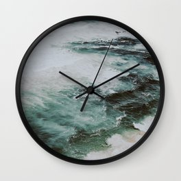 waves vii / portugal Wall Clock