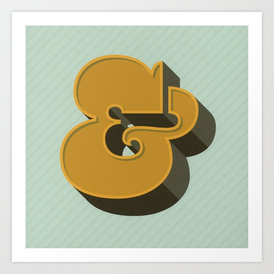 Heavy Ampersand Art Print