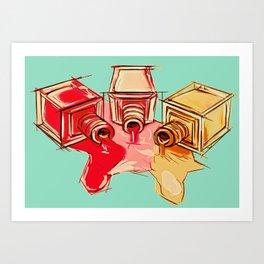 Nail Polish Art Print