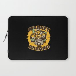 Market wizard trading online bank notes flying Laptop Sleeve