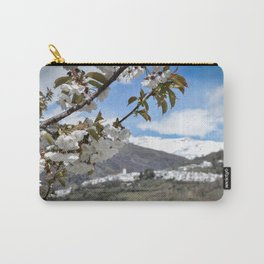 White, white and white (flowers, village, snow) Carry-All Pouch