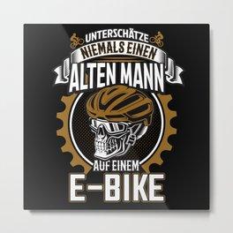Ebike Alter Mann Elektrofahrrad Metal Print