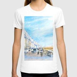 12,000pixel-500dpi - David Cox - Pont Neuf from the Quai de l'Ecole, Paris - Digital Remastered T-shirt