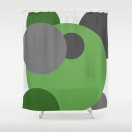 'Cirlcle of Life' Modern Art | Spots | Dots | Modern home Shower Curtain