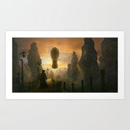 Return to the sky pirates cove Art Print
