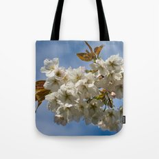 White Cherry Blossom Tote Bag