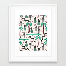 Tropical by Andrea Lauren Framed Art Print