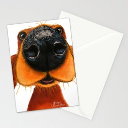 Nosey Dog ' NOSEY NANDO ' by Shirley MacArthur Stationery Cards