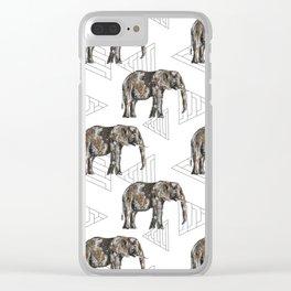 Boho elephant Clear iPhone Case