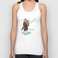 martell Tank Tops featuring Pete Martell Pin-up by Emma Munger