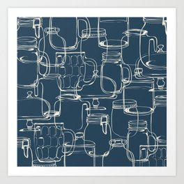 glass containers Art Print