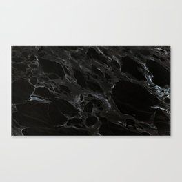 Black marble Canvas Print