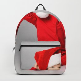Picture Infants Christmas child Winter hat present Backpack