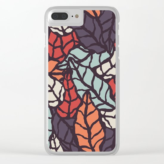 Nature leaves 006 Clear iPhone Case