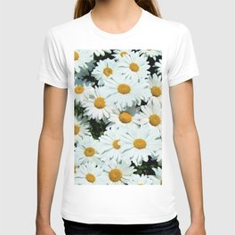 Daisies explode into flower T-shirt