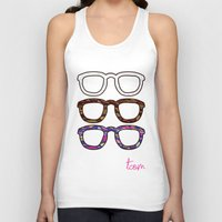 glasses Tank Tops featuring Glasses by @thecultureofme