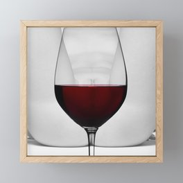 Red wine and naked woman Framed Mini Art Print