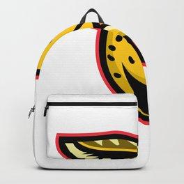 Serval Wild Cat Mascot Backpack