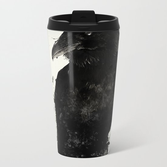 The Raven Metal Travel Mug