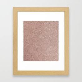 Gold Glitter Texture Framed Art Print