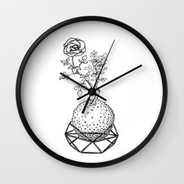 Rose Kokedama Wall Clock