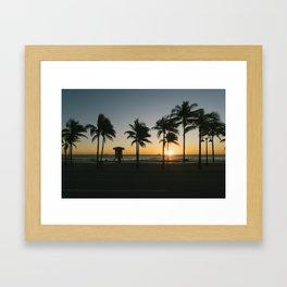 Fort Lauderdale at sunrise Framed Art Print