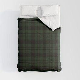 Plaid (Dark green) Comforters