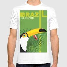 Brazil [rainforest] Mens Fitted Tee White MEDIUM