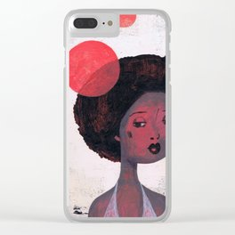 AFRO PSYCHE Clear iPhone Case