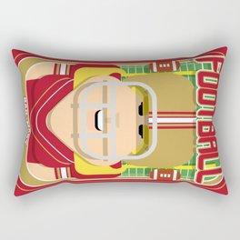 American Football Red and Gold - Hail-Mary Blitzsacker - Hazel version Rectangular Pillow