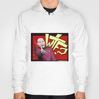 picard Hoodies featuring Wtf Picard by Slightly Absurd