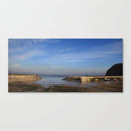 Staithes Harbour, Yorkshire.  Canvas Print