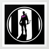 clint barton Art Prints featuring Clint Barton by Comix